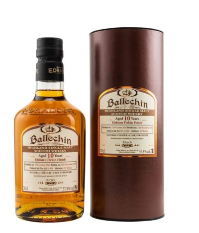 Ballechin 2010 2020 10 Jahre ElsBurn Firkin Finish exclusive release for Kirsch Import