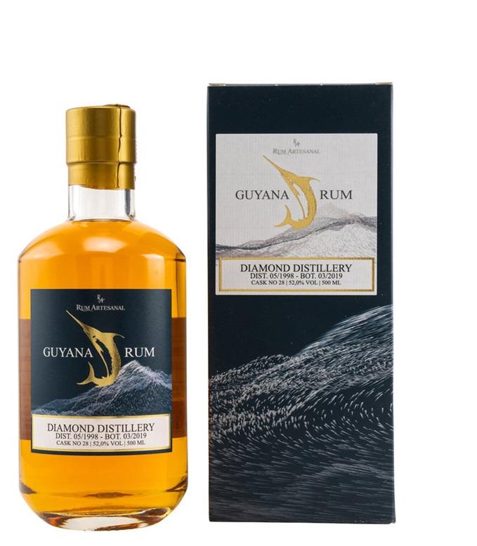 Diamond Distillery 1998 2019 20 Jahre Guyana Rum